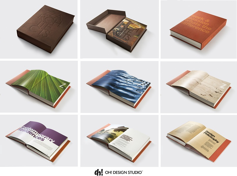 coffee table book design for architect