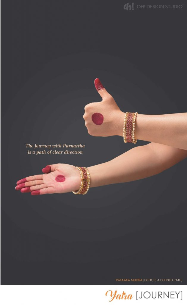 Corporate Brochure design concept: JOURNEY - Pataaka mudra to depict defined investment path