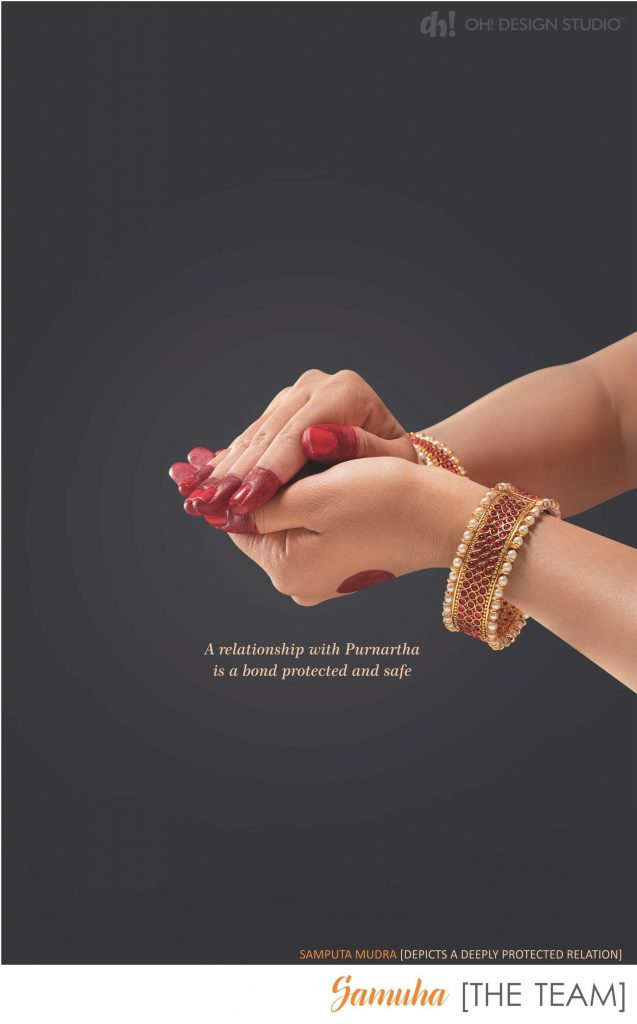 samputa mudra to show protected bond in brochure designed by oh design studio