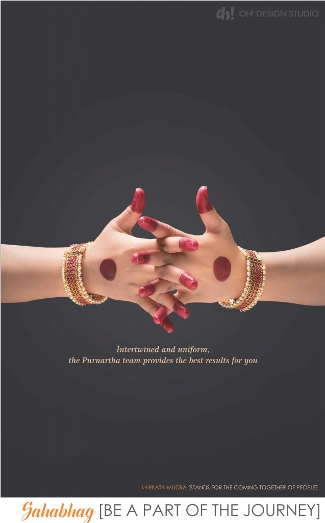 be a part of Journey design concept depicted by karkata mudra
