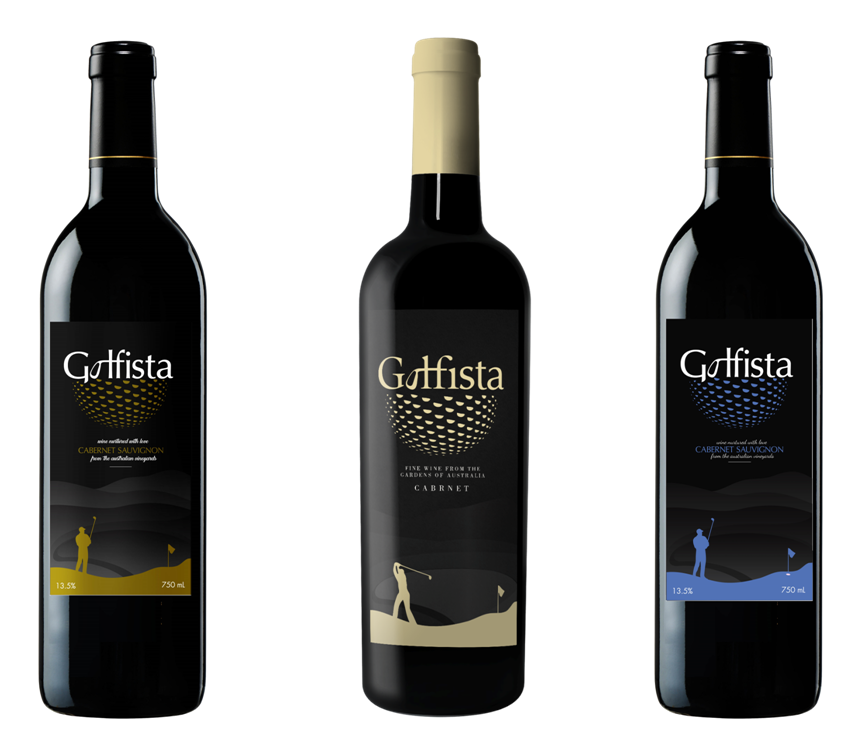 wine label and logo design with message