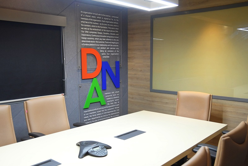 company DNA is wall graphics installation