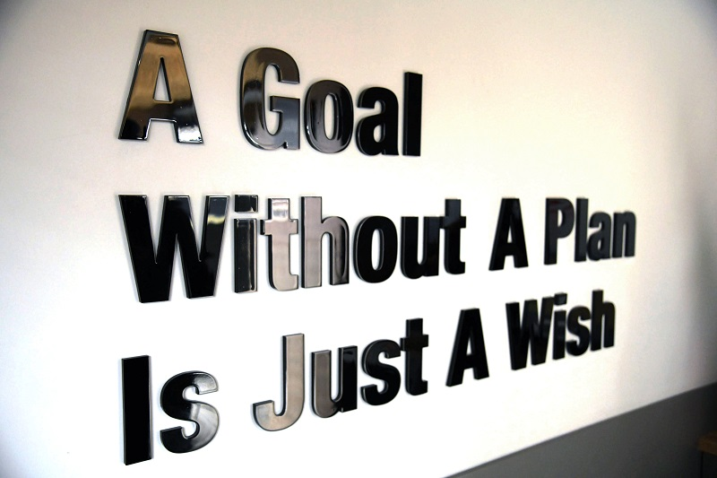 famous quote: a goal without a plan is just a wish